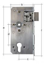 GAH Alberts vervangslot met  doornmaat 55 voor slotkast 40mm